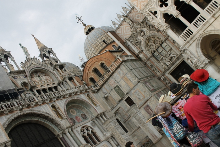St Mark's Basilica from outside in Venice