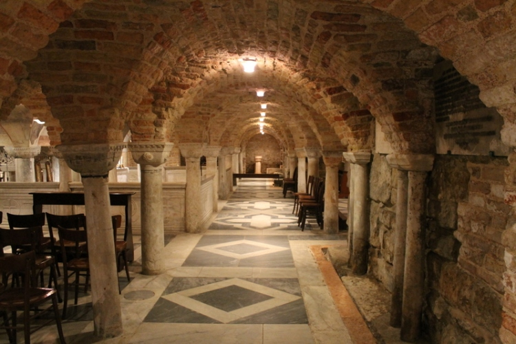 The crypt of St. Mark's Basilica in Venice