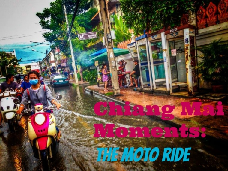 riding a moto bike in chiang mai