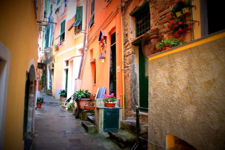 A street in Vernazza, Italy