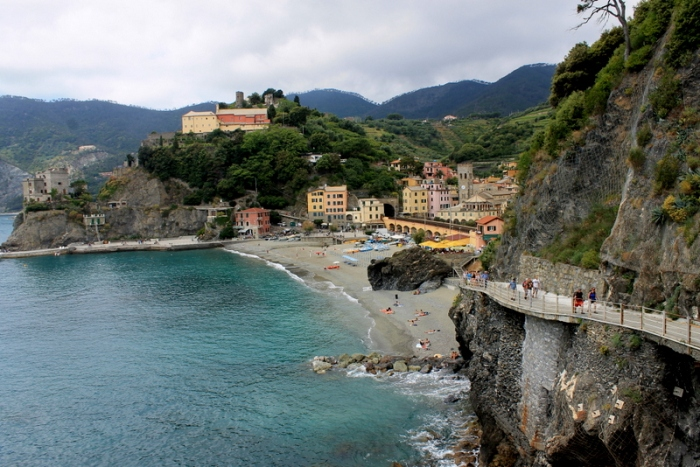 The view from Vernazza to Monterosso