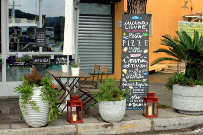 A sign in Cinque Terre