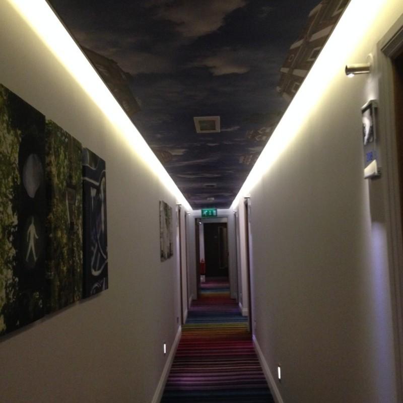 The hallway of Hotel Indigo - Paddington