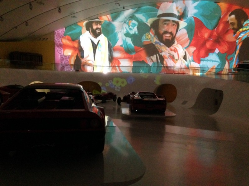 Pavarotti presentation at Ferrari Museum