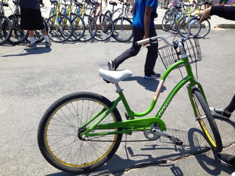 Biking from Santa Monica to Venice Beach