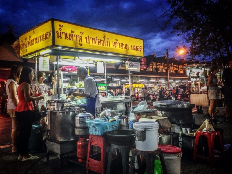 Things to do in Chiang Mai: eat street food at the South Gate of the city