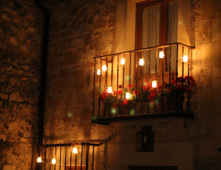 Experiencing La Noche de las Velas (Night of Candles) in Pedraza, Spain. Only the first two Julys of every year, this medieval city turns off its lights and is illuminated by 10,000 candles.