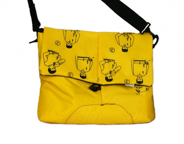 The Gift Guide for Travelers featuring only sustainable gifts and gifts which give back to local communities. Pictured: Hipcycle's Life Vest Messenger Bag. For more, visit www.dtravelsround.com