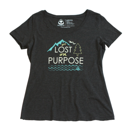 The Gift Guide for Travelers featuring only sustainable gifts and gifts which give back to local communities. Pictured: cozy T-shirts from No+Yo, made in USA and gives back to local charities. For more, visit www.dtravelsround.com