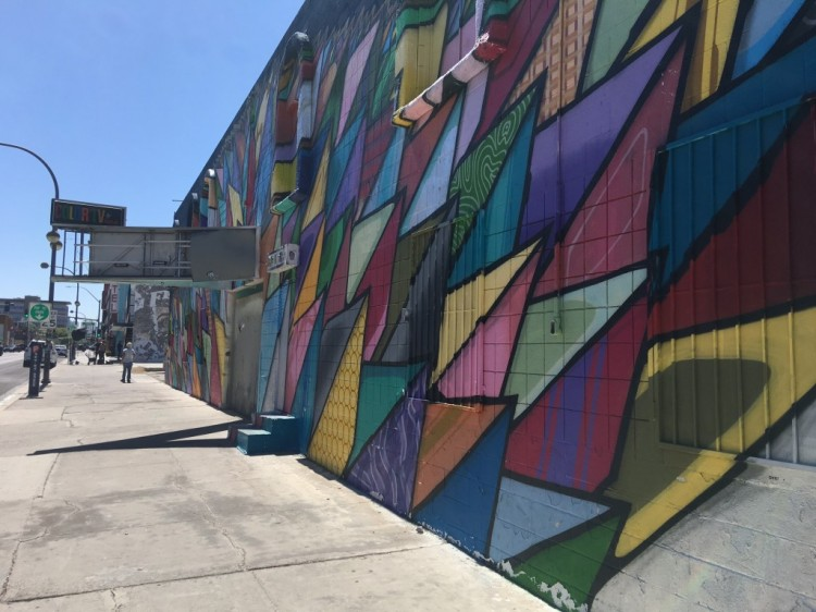 Street art in Downtown Las Vegas, a part of Life is Beautiful, but can be viewed year-round.