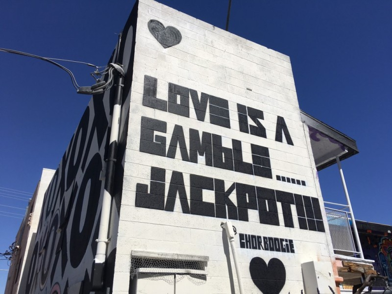 Love street art in Las Vegas
